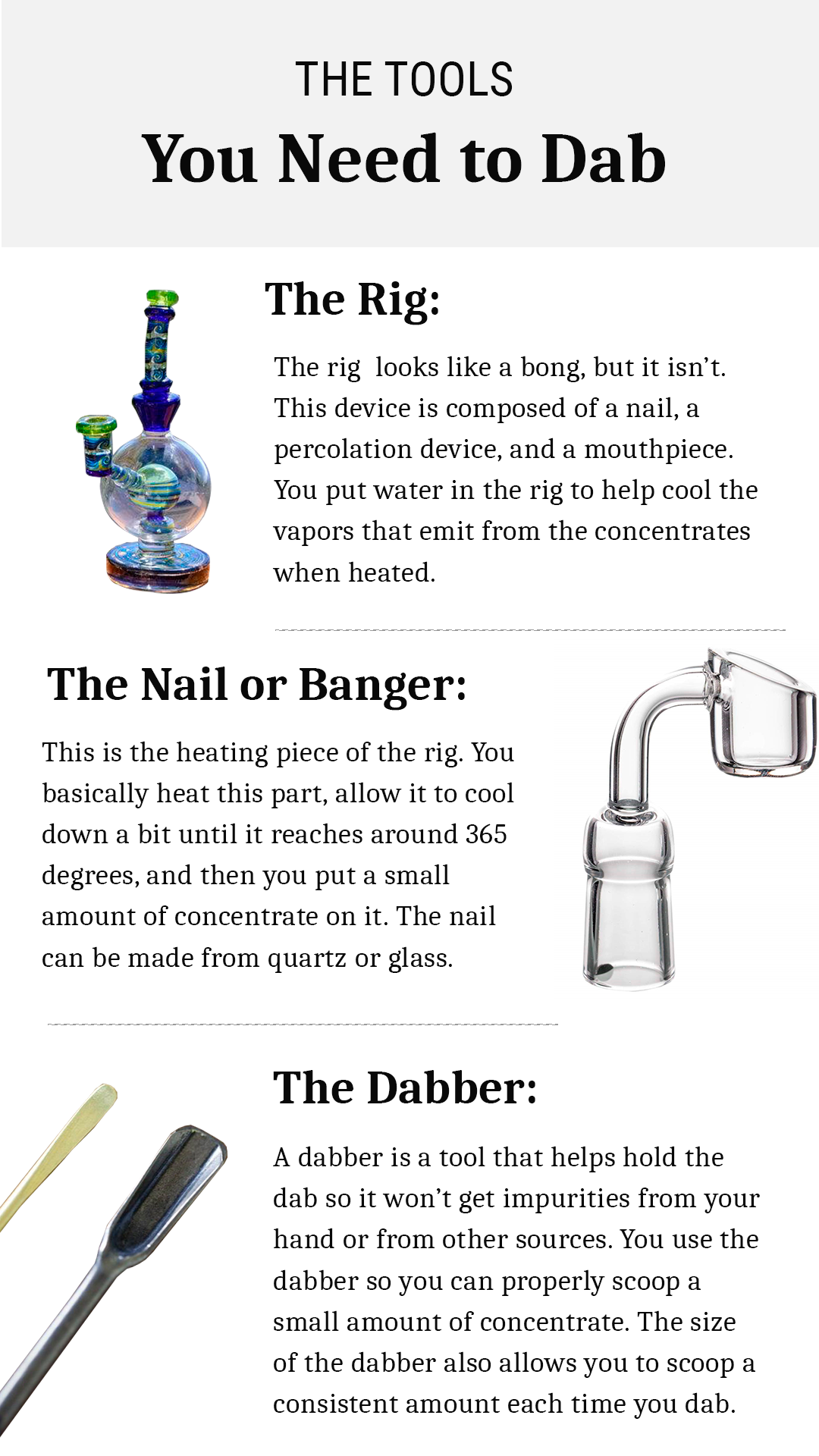 What you need to dab