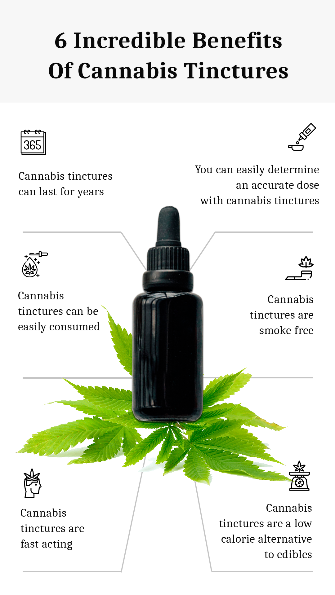 6 Incredible Benefits of Cannabis Tinctures - Hoja