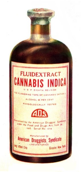 Original glass bottle of tinctures